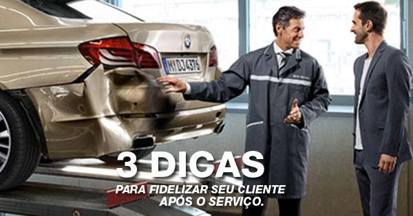 Oficina mecânica. Trás dicas úteis para fidelizar seu cliente após o serviço.